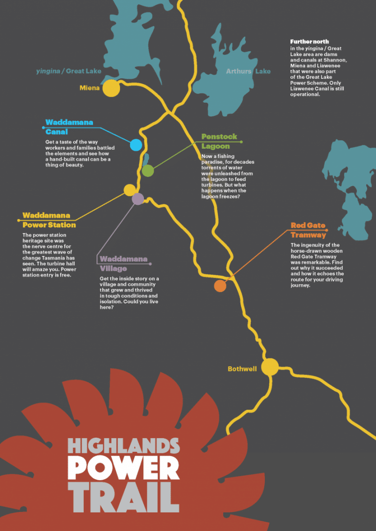 Highlands power trail map